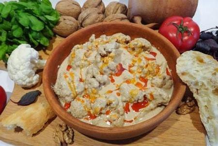 Цветная капуста в ореховом соусе баже (2)