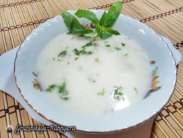 Грузинский рецепт Мацвнис супи