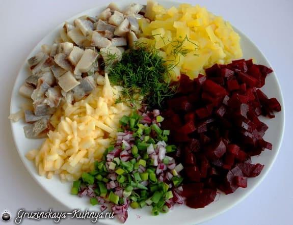 Салат из сельди со свеклой (2)