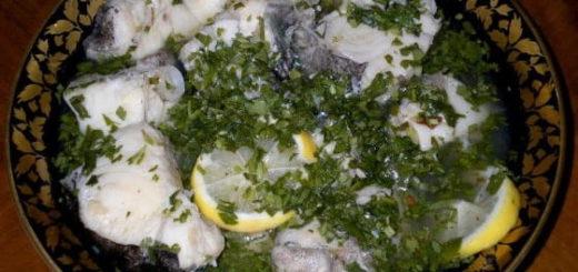 Сом и лосось в киндзмари по-грузински (2)