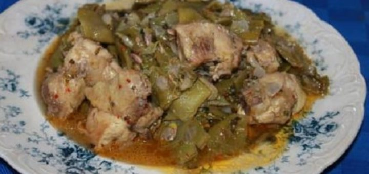 Зеленое лобио с курицей. Грузинский рецепт (1)