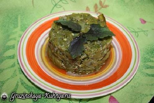 Зеленое лобио с зеленью и чесноком (1)
