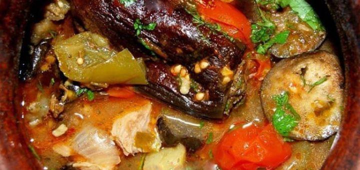 Чанахи - мясное блюдо с баклажанами