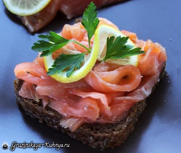 Гравлакс - маринованный лосось. Рецепт