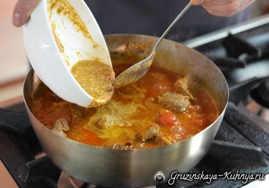 Рецепт харчо с орехами по-мегрельски (3)