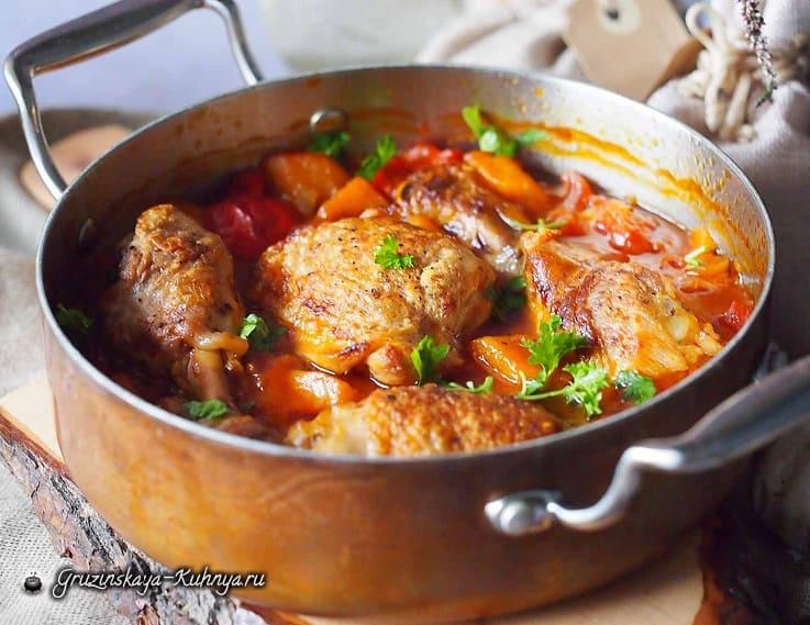 Курица, запеченная с тыквой и болгарским перцем (2)