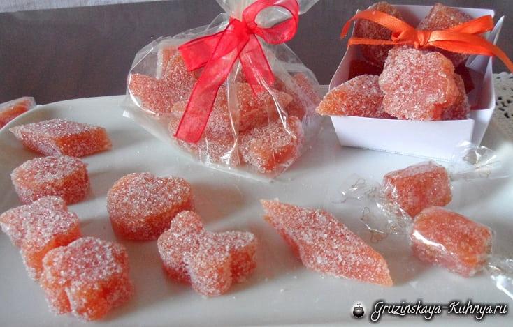 Нежные айвовые конфеты к Новому году (8)