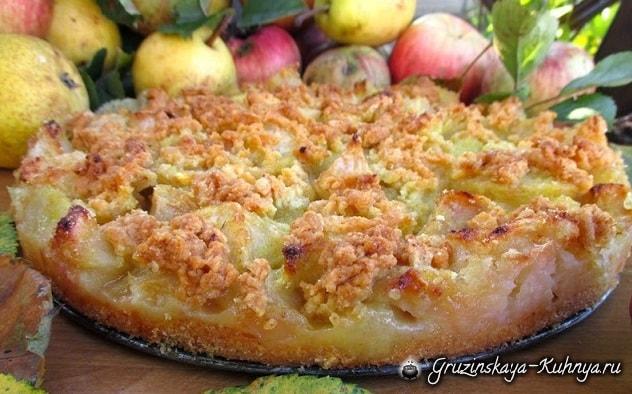 Яблочно-грушевый пирог. Вкусный рецепт (1)