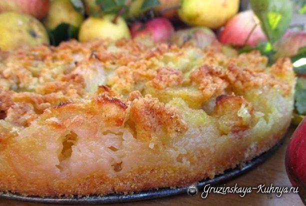 Яблочно-грушевый пирог. Вкусный рецепт (2)