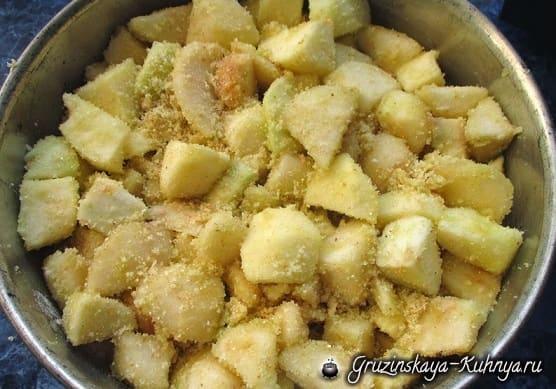 Яблочно-грушевый пирог. Вкусный рецепт (6)