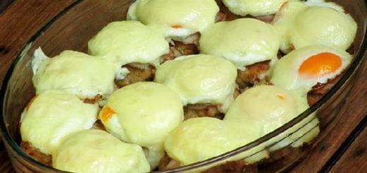 Котлеты с сыром и ветчиной в духовке (1)