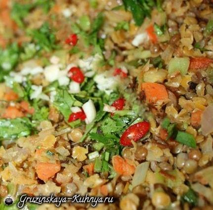 Чечевица с овощами по-грузински (5)