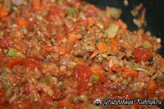 Чечевица с овощами по-грузински (6)