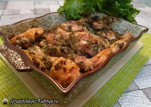 Куриные голени со сметаной в духовке (1)