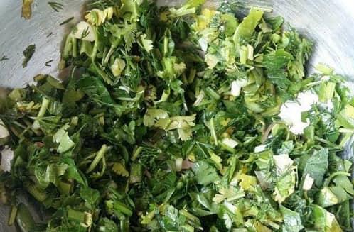 Лепешки из пресного теста с овощной начинкой (6)