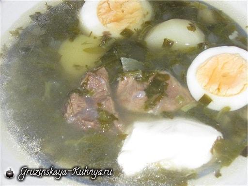 Мясной суп с щавелем (1)