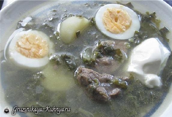 Мясной суп с щавелем (2)
