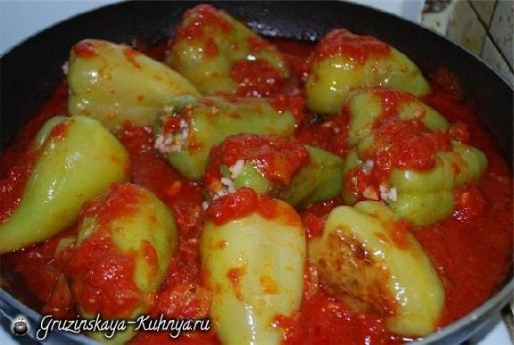 Перец, фаршированный рисом и овощами (2)