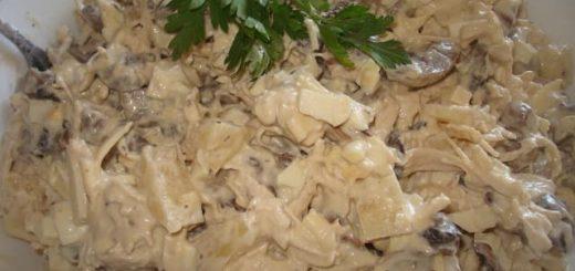 Салат с курицей и грибами (1)