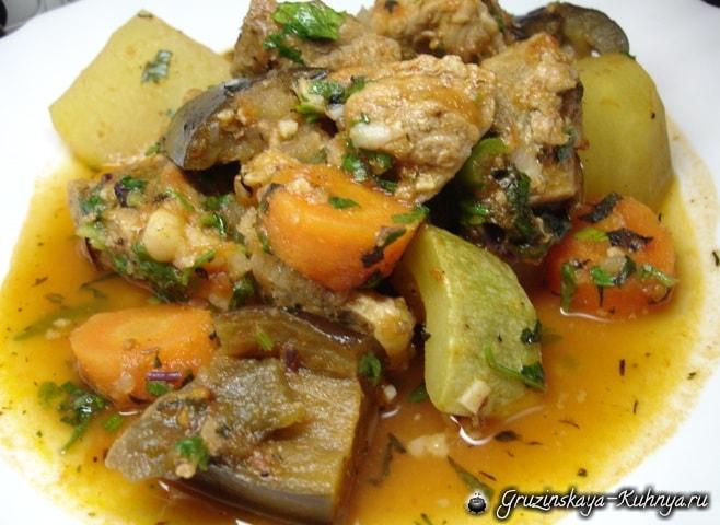 Аджапсандали с мясом по-грузински (2)
