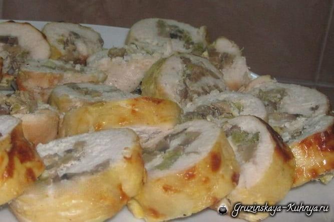 Куриные рулетики с грибами (2)