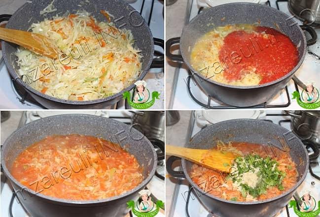 Тушеная капуста с морковью и помидорами (1)