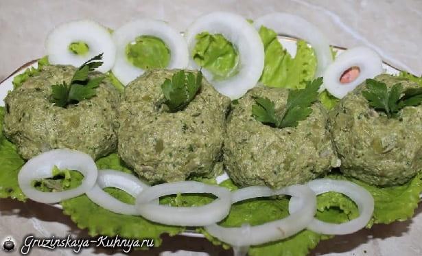 Пхали из зеленого лобио (2)
