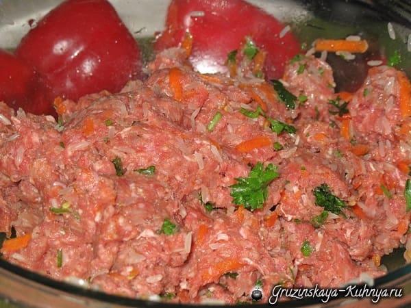 Толма из красного болгарского перца (4)
