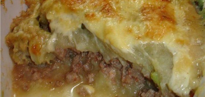 Запеканка из мясного фарша с картофелем (2)