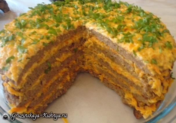 Печеночный торт из говяжьей печени (2)